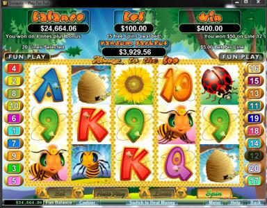 Dreams featuring the Video Slots Honey To The Bee with a maximum payout of $250,000