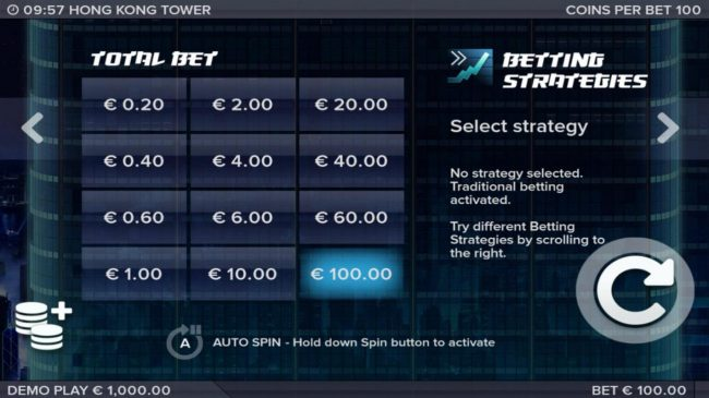 Spinrider featuring the Video Slots Hong Kong Tower with a maximum payout of $301,650