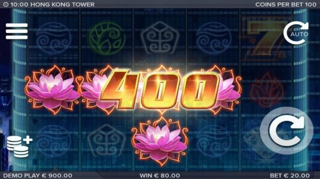 Vegas Baby featuring the Video Slots Hong Kong Tower with a maximum payout of $301,650