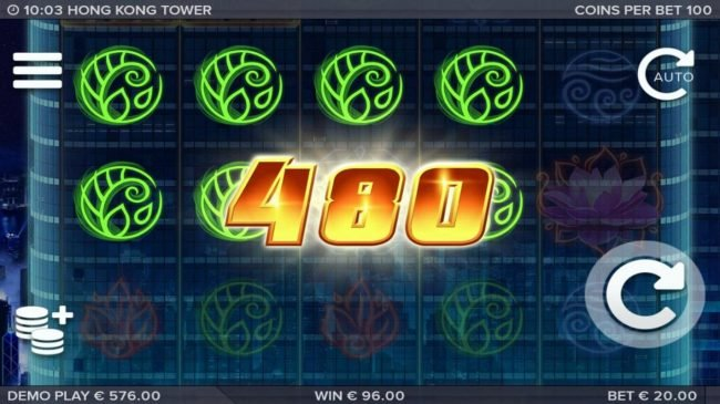 Multiple winning paylines triggers a 480 coin big win!