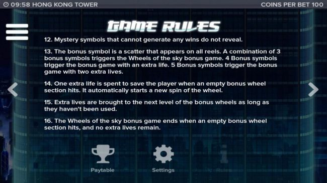 General Game Rules - Continued