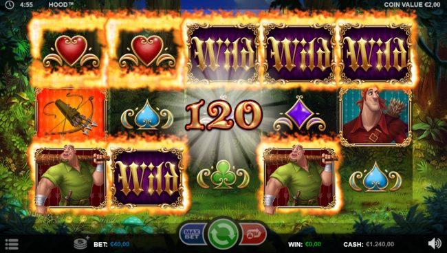 Hood :: Multiple winning paylines triggers a big win