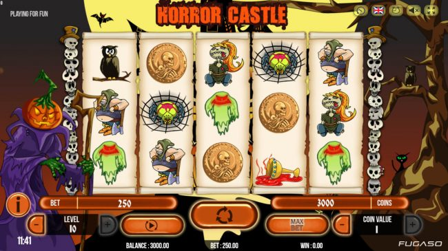 Play slots at All Wins Casino: All Wins Casino featuring the Video Slots Horror Castle with a maximum payout of $125,000