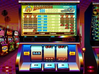 Play slots at Long Harbour: Long Harbour featuring the Video Slots Horseshoe with a maximum payout of $2,500
