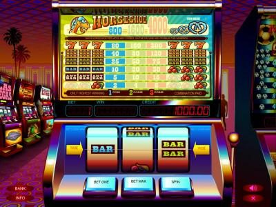 Play slots at Long Harbour: Long Harbour featuring the Video Slots Horseshoe Plus with a maximum payout of $4,000