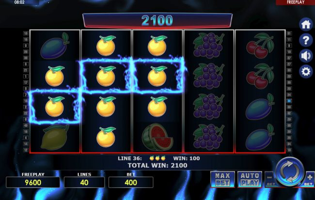 King Billy featuring the Video Slots Hot 40 with a maximum payout of $80,000