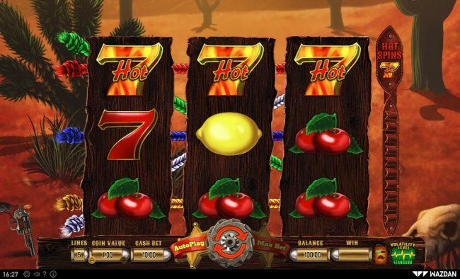 Play slots at Pokie Place: Pokie Place featuring the Video Slots Hot 777 Deluxe with a maximum payout of $10,000