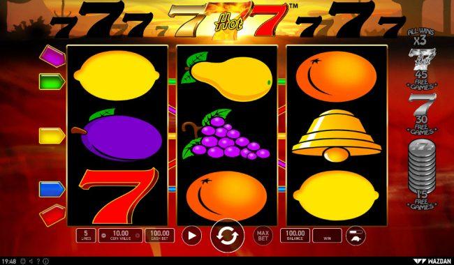 Hot 777 :: Main Game Board