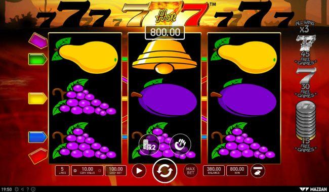 Hot 777 :: A winning three of a kind