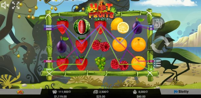 Casino Dingo featuring the Video Slots Hot Fruits with a maximum payout of $50,000