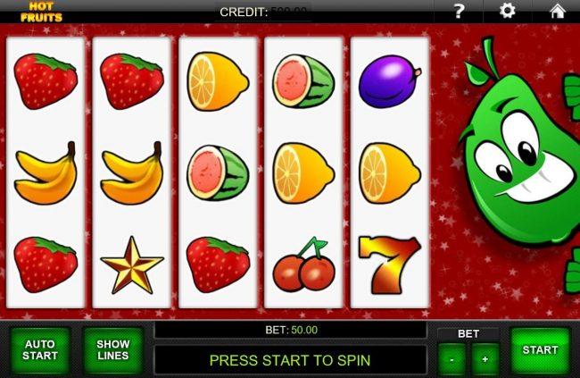 Hot Fruits :: Main Game Board