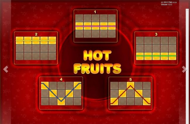Hot Fruits :: Paylines 1-5