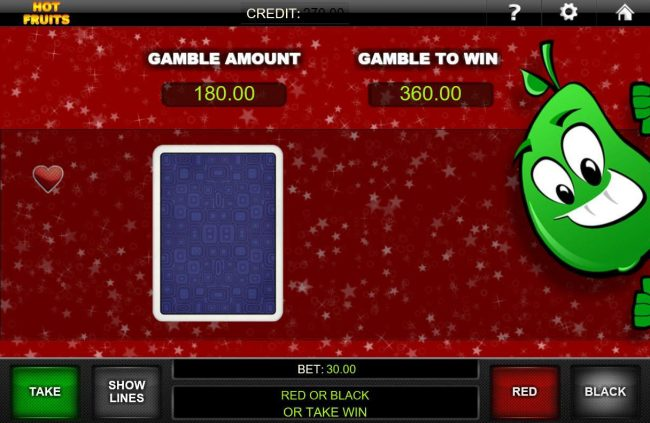 Hot Fruits :: Gamble Feature Game Board