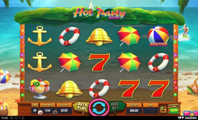 Play slots at Rich Prize: Rich Prize featuring the Video Slots Hot Party Deluxe with a maximum payout of $50,000