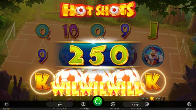 Joker Casino featuring the Video Slots Hot Shots with a maximum payout of $607,500