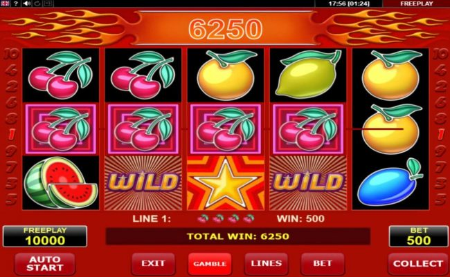 Hot Star :: Multiple winning paylines triggers a big win
