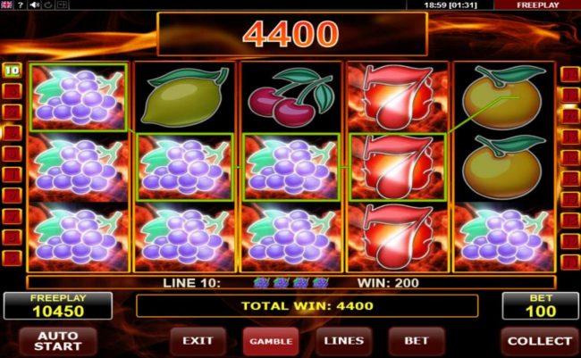 Multiple winning combinations triggers a big win