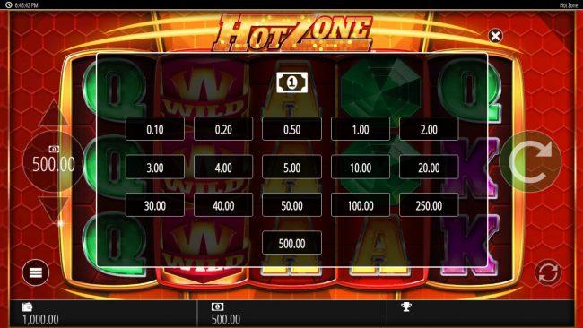 Hot Zone :: Betting Options