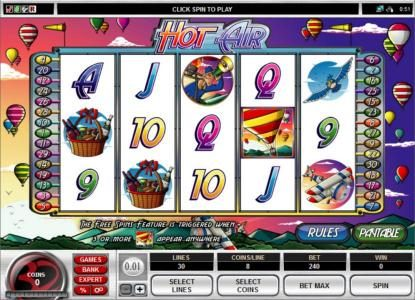 Play slots at Platinum Play: Platinum Play featuring the Video Slots Hot Air with a maximum payout of $1,000