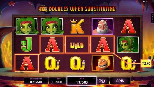 Lucky Bets featuring the Video Slots Hot as Hades with a maximum payout of $500,000