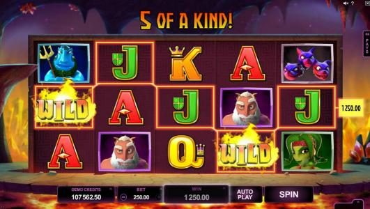 Yukon Gold featuring the Video Slots Hot as Hades with a maximum payout of $500,000