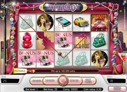 Spinzilla featuring the Video Slots Hot City with a maximum payout of $20,000