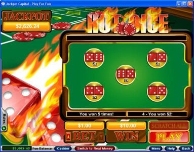 Play slots at Casino Bellevue: Casino Bellevue featuring the Video Slots Hot Dice with a maximum payout of Jackpot