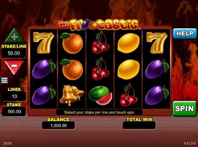 DruckGluck featuring the Video Slots Hot Frootastic with a maximum payout of $250,00