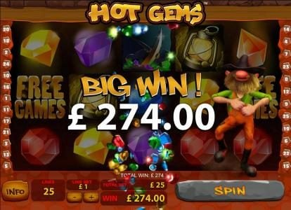 274 coin big win jackpot triggered