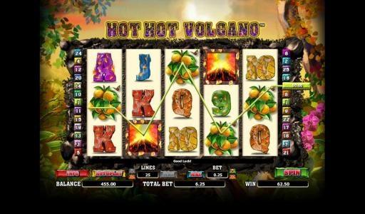 Play slots at Bonanza: Bonanza featuring the Video Slots Hot Hot Valcano with a maximum payout of 500x