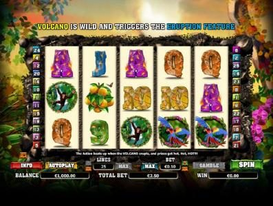 888 Casino featuring the Video Slots Hot Hot Volcano with a maximum payout of $1,000