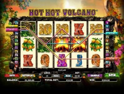 Tivoli featuring the Video Slots Hot Hot Volcano with a maximum payout of $1,000