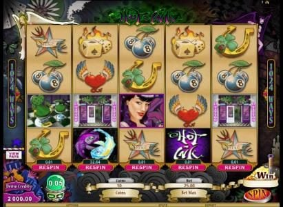 Play Million featuring the Video Slots Hot Ink with a maximum payout of $306,250