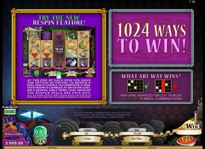 Play slots at Colosseum: Colosseum featuring the Video Slots Hot Ink with a maximum payout of $306,250