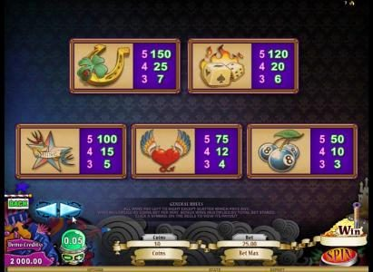 Argo featuring the Video Slots Hot Ink with a maximum payout of $306,250