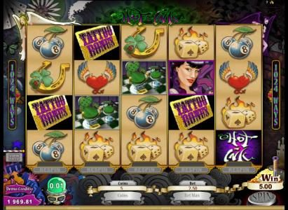 Tivoli featuring the Video Slots Hot Ink with a maximum payout of $306,250