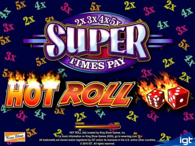 Casino Club featuring the Video Slots Hot Roll with a maximum payout of $250,000