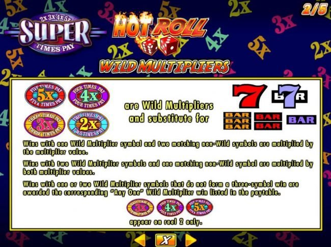 Jetbull featuring the Video Slots Hot Roll Super Times Pay with a maximum payout of $250,000