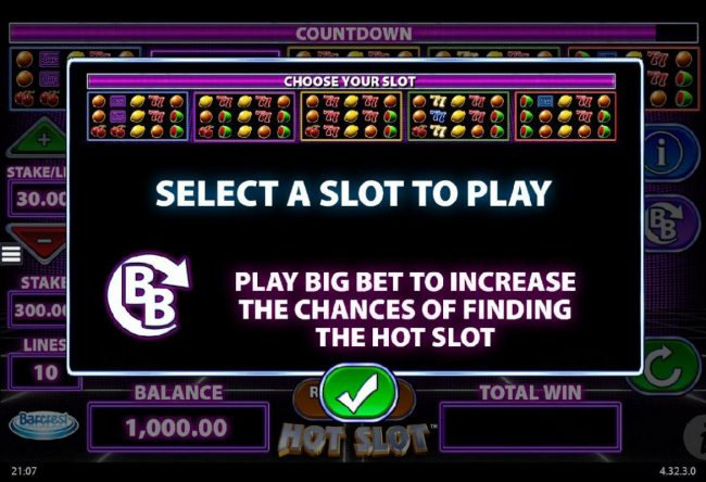 Play slots at Slot King: Slot King featuring the Video Slots Hot Slot with a maximum payout of $250,000