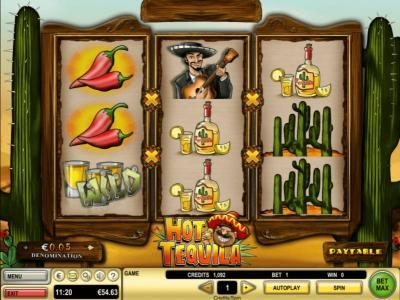 Virgin featuring the Video Slots Hot Tequila with a maximum payout of $25,000