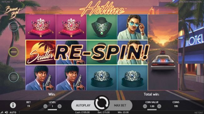 TheBesCasino featuring the Video Slots Hotline with a maximum payout of $60,000