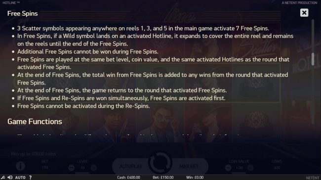 Oshi featuring the Video Slots Hotline with a maximum payout of $60,000