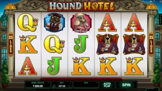 Casimba featuring the Video Slots Hound Hotel with a maximum payout of $550,000