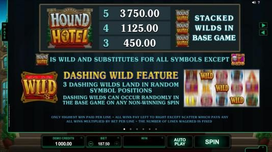 Caribic featuring the Video Slots Hound Hotel with a maximum payout of $550,000