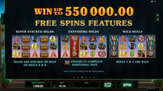 Blackjack Ballroom featuring the Video Slots Hound Hotel with a maximum payout of $550,000
