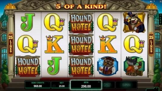 Play slots at Gaming Club: Gaming Club featuring the Video Slots Hound Hotel with a maximum payout of $550,000