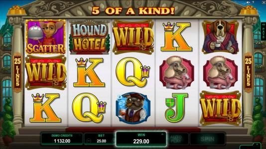 La Vida featuring the Video Slots Hound Hotel with a maximum payout of $550,000