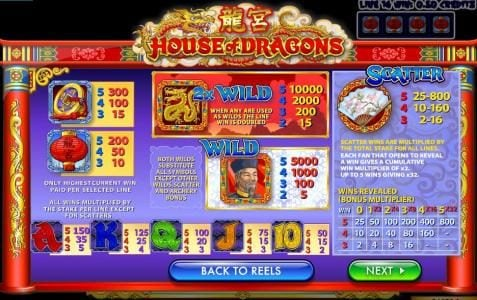 Play slots at ZigZag777: ZigZag777 featuring the Video Slots House of Dragons with a maximum payout of $50,000