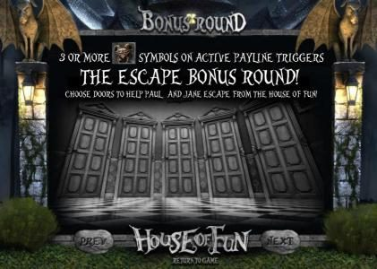 the escape bonus round rules