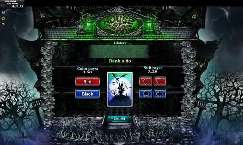 Videoslots featuring the Video Slots House of Scare with a maximum payout of $3,000